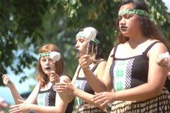 Danza maorí Imagen de archivo