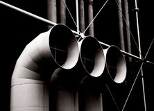 Greypipes on black background Royalty Free Stock Photography
