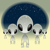Greys - UFO. Vector and cartoon illustration vector illustration