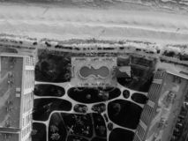 Greyscale Aerial Photography of Building royalty free stock image