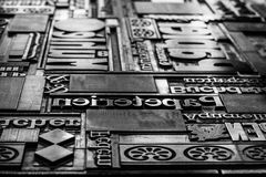 Greyscale block of type Royalty Free Stock Image