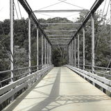 Greyscale Bridge. Back country road bridge in Greyscale Royalty Free Stock Photos