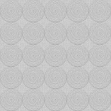 Greyscale  circles seamless ornament Stock Images