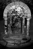 Greyscale feenhafter Tempel-Hintergrund Stockfotografie