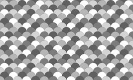 Greyscale fish scale pattern Royalty Free Stock Photo