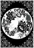 Greyscale floral decoration royalty free illustration