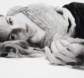 Greyscale girl portrait Stock Photography