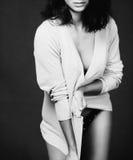 Greyscale girl portrait Stock Photo