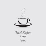 Greyscale Icon of Cup Royalty Free Stock Photography