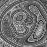 Greyscale illustration with imitation of wood radial texture Royalty Free Stock Image