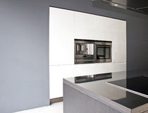 Greyscale Kitchen Horizontal Royalty Free Stock Image