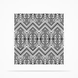 Greyscale Navajo Pattern Stock Photos