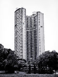 Greyscale Photograph of High Rise Building Stock Photo