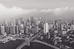 Greyscale Photography of City Stock Photos