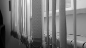 Greyscale Photography of Curtain Stock Photography
