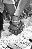 Greyscale Photography of Two Person Holding Hands Royalty Free Stock Photo
