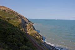 Greystones zu Bray Cliff Walk Stockbild