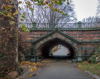 Greywacke Arch at Central Park - New York, USA. Greywacke Arch at Central Park in New York, USA Royalty Free Stock Photography