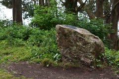 Greywacke kołysa pomnika z plakietą na Mt Davidson San Fransisco, 4 zdjęcia stock
