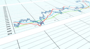 Gráfico angular do spreadsheet Imagem de Stock