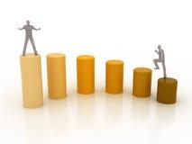 Gráfico ao sucesso Foto de Stock Royalty Free
