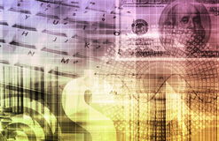 Gráfico da tecnologia do Spreadsheet da finança Fotos de Stock Royalty Free