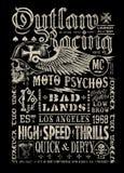 Gráfico de competência foragido do t-shirt do cartaz do vintage Imagens de Stock Royalty Free