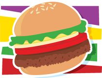 Gráfico de la hamburguesa Fotografía de archivo libre de regalías