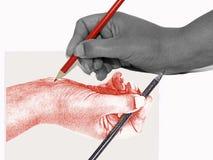 Gráfico de la mano Imágenes de archivo libres de regalías