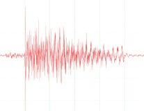 Gráfico de la onda del terremoto Imagen de archivo libre de regalías