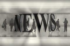 Gráfico de las noticias Imagen de archivo