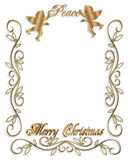 Gráfico de los ángeles 3D de la paz de la Navidad Foto de archivo libre de regalías