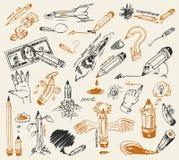 Gráfico de lápiz. A mano Foto de archivo