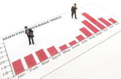 Gráfico de negócio Imagens de Stock