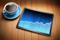 Gráfico de negocio de la tableta Imagen de archivo libre de regalías