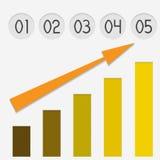 Gráfico de papel con números Imagenes de archivo