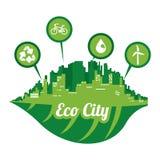 Gráfico del ejemplo eps10 del vector del diseño de la ciudad de Eco Fotos de archivo libres de regalías