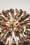 Gráfico del pastel de queso Foto de archivo libre de regalías