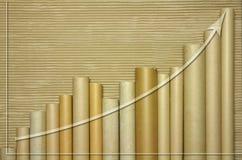 Gráfico del tubo de Cardborad Fotos de archivo libres de regalías