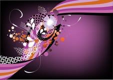 Gráfico retro púrpura cobarde Imágenes de archivo libres de regalías