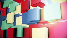 Gráficos abstractos del movimiento del cgi con las figuras multicoloras metrajes