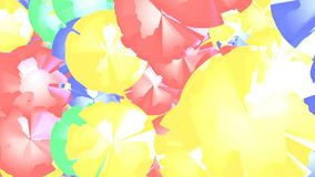 Gráficos abstratos do movimento do cgi com figuras coloridos vídeos de arquivo