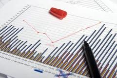Gráficos & pena Fotografia de Stock