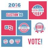 Gráficos da eleição 2016 Foto de Stock Royalty Free