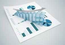 Gráficos da finança do negócio Fotos de Stock Royalty Free