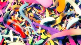 Gráficos dando laços abstratos do movimento do cgi com linhas coloridas video estoque