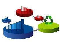 Gráficos de círculo do negócio Fotografia de Stock Royalty Free
