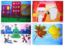 Gráficos de los niños Imágenes de archivo libres de regalías