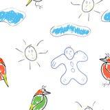 Gráficos de los niños inconsútiles del papel pintado Fotos de archivo