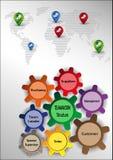 Gráficos del trabajo en equipo Imagen de archivo libre de regalías